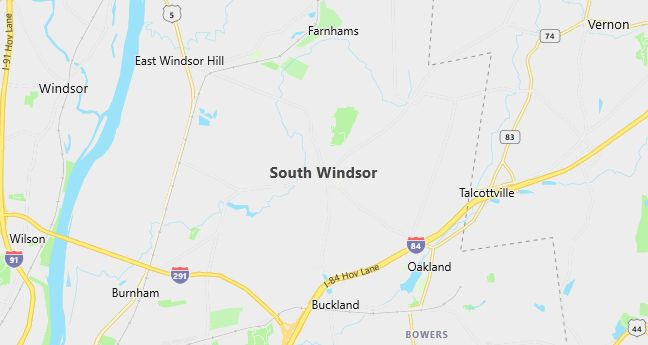 Map of South Windsor, CT