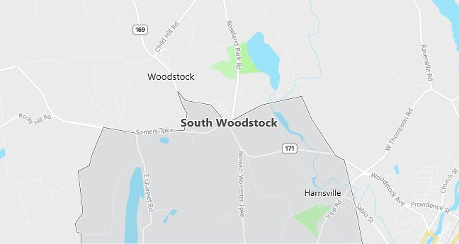 Map of South Woodstock, CT