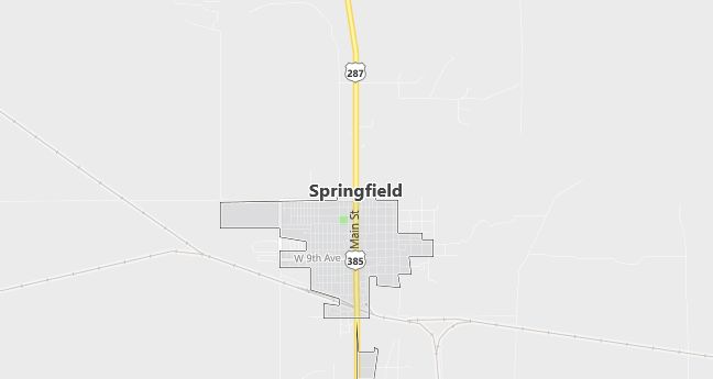 Map of Springfield, CO