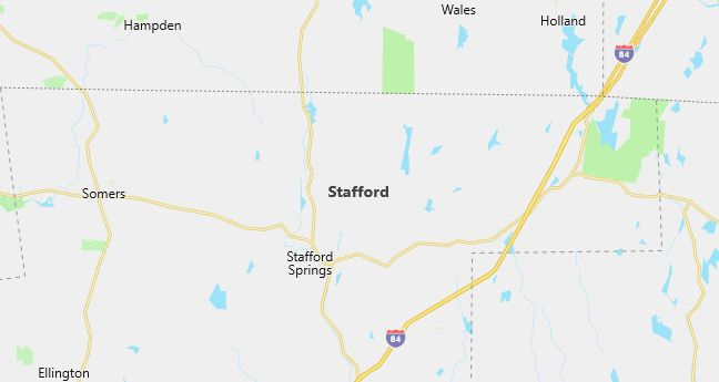 Map of Stafford, CT
