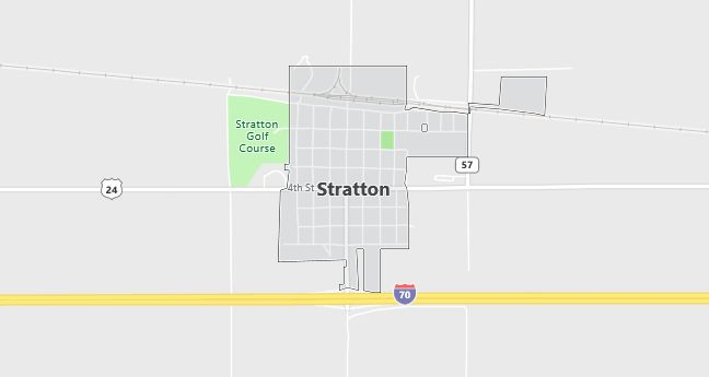 Map of Stratton, CO