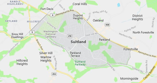 Map of Suitland, MD