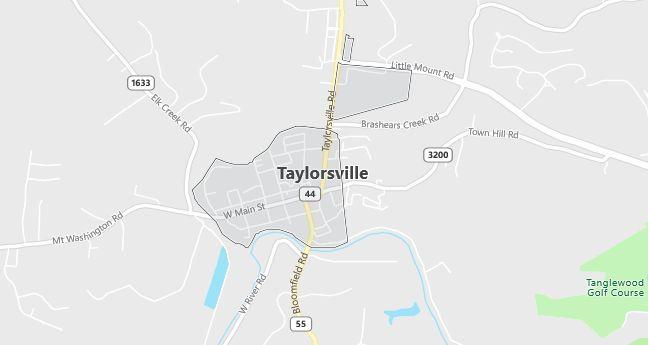 Map of Taylorsville, KY