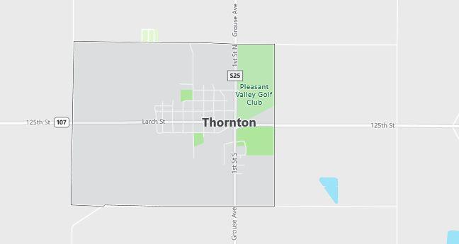 Map of Thornton, IA