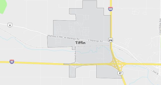 Map of Tiffin, IA
