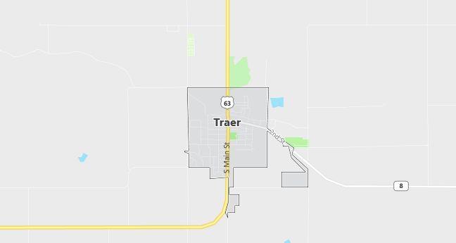Map of Traer, IA