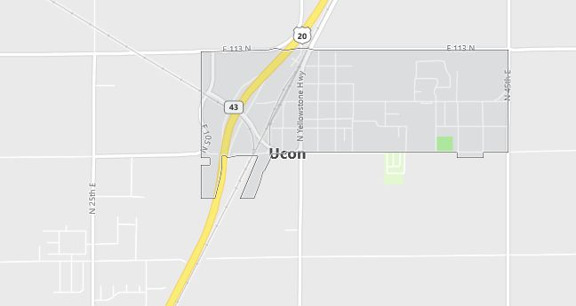 Map of Ucon, ID