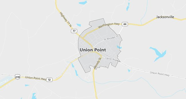Map of Union Point, GA