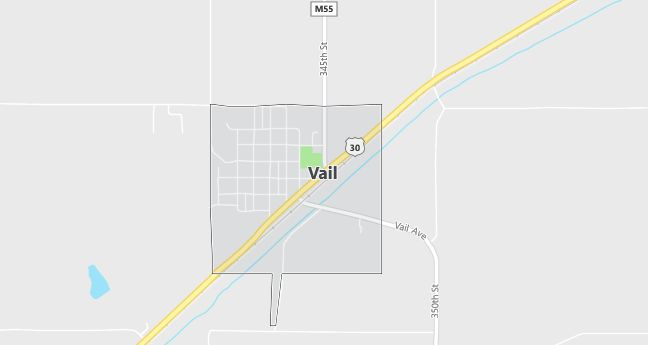 Map of Vail, IA