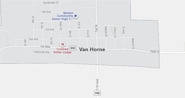 Map of Van Horne, IA