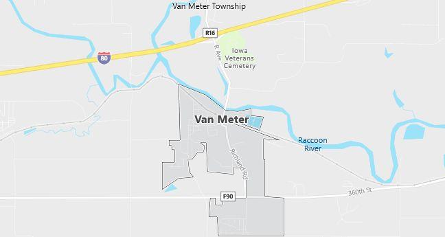 Map of Van Meter, IA