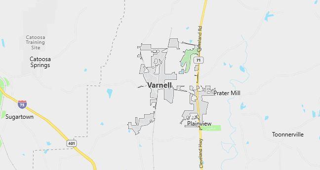 Map of Varnell, GA