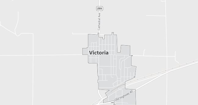 Map of Victoria, KS