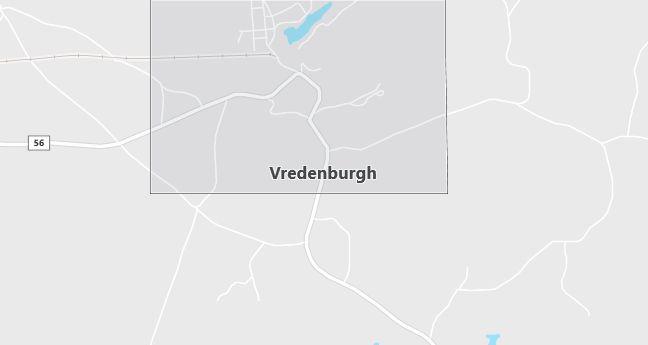Map of Vredenburgh, AL
