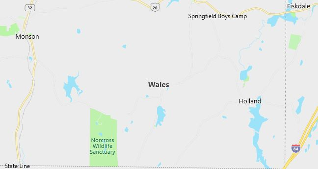 Map of Wales, MA