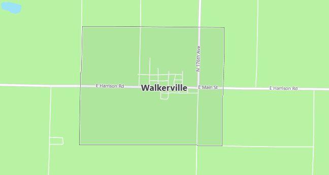 Map of Walkerville, MI