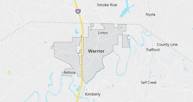 Map of Warrior, AL