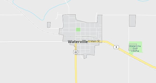 Map of Waterville, KS