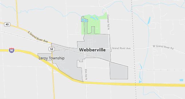 Map of Webberville, MI