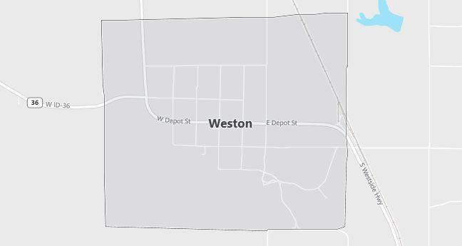 Map of Weston, ID