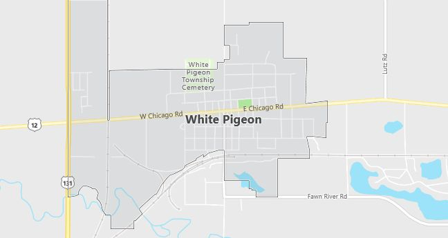 Map of White Pigeon, MI