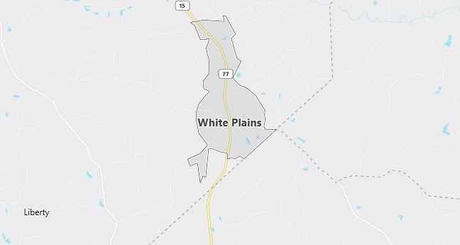 Map of White Plains, GA