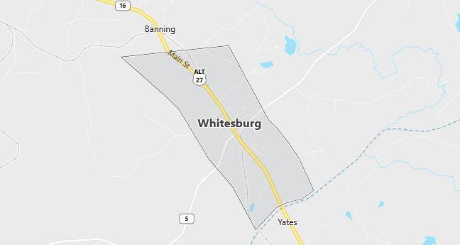 Map of Whitesburg, GA