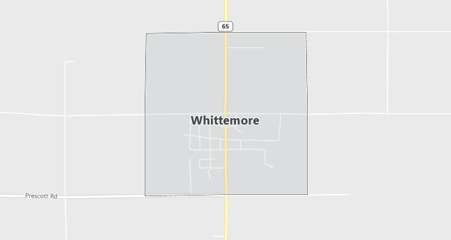 Map of Whittemore, MI