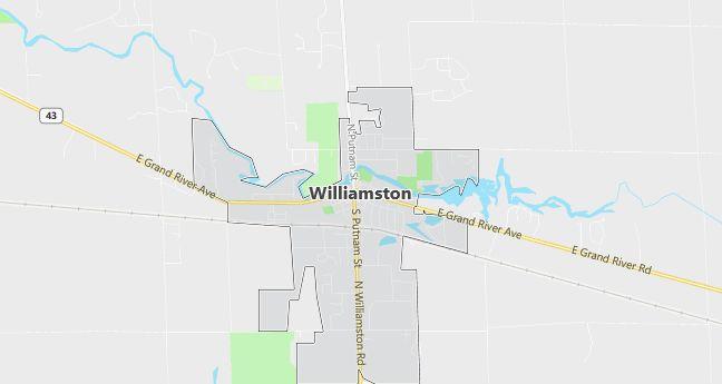 Map of Williamston, MI