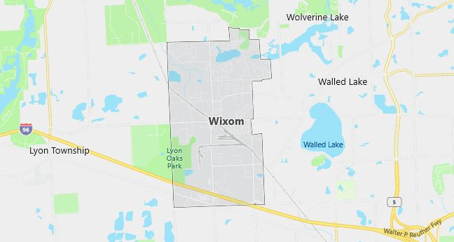Map of Wixom, MI