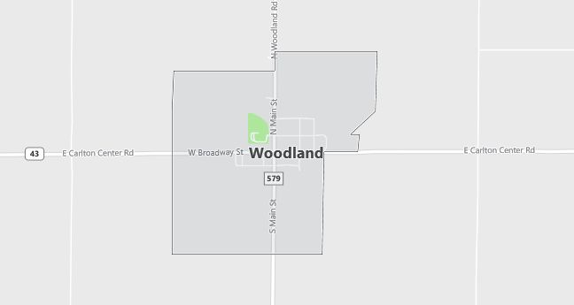Map of Woodland, MI
