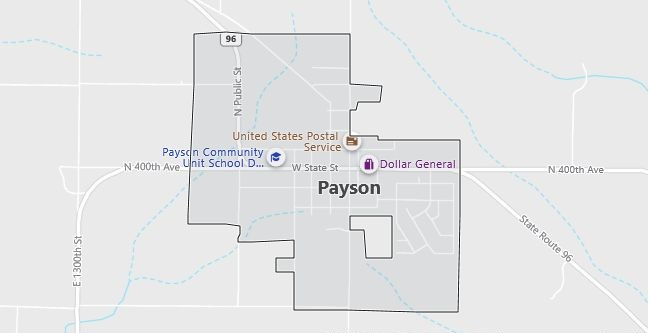 Map of Payson, IL