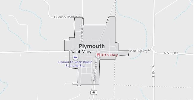 Map of Plymouth, IL