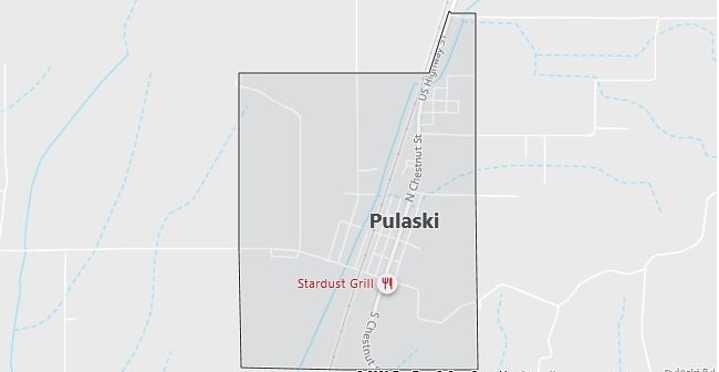 Map of Pulaski, IL