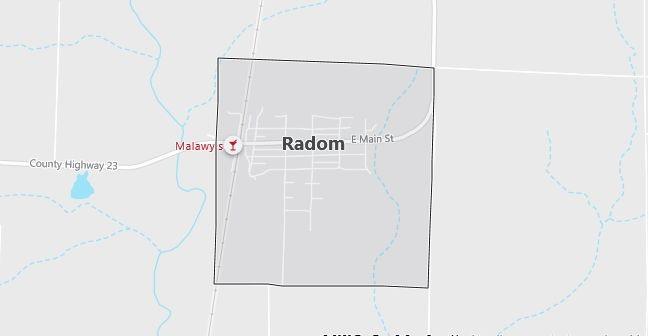 Map of Radom, IL