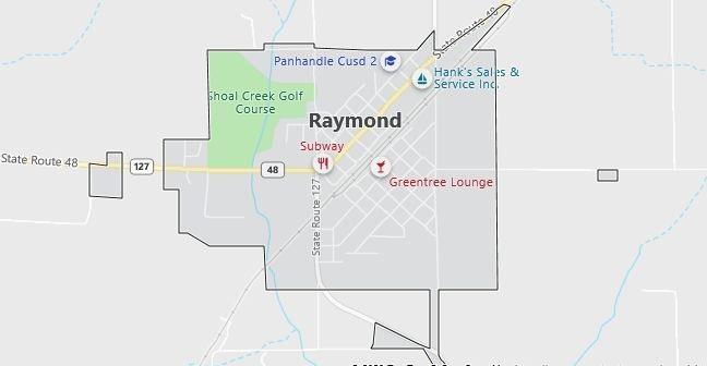 Map of Raymond, IL