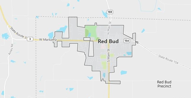 Map of Red Bud, IL